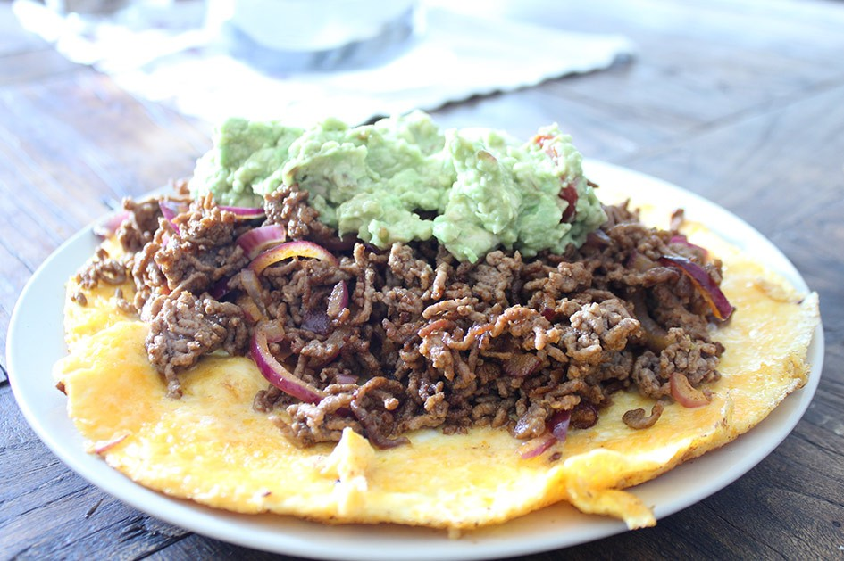 aufegklappter Paleo Burrito
