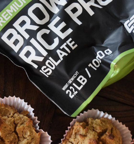 Glutenfreie Süßkartoffel Protein Muffins