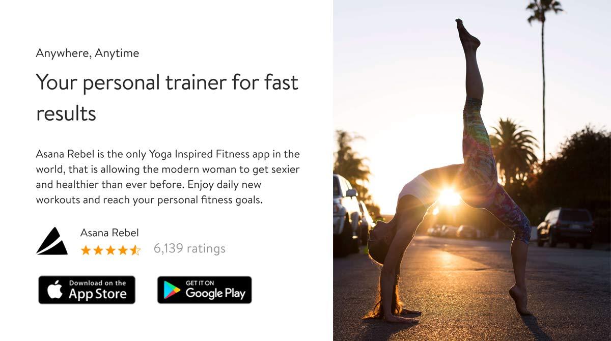 fitnessblog yoga app asana-rebel