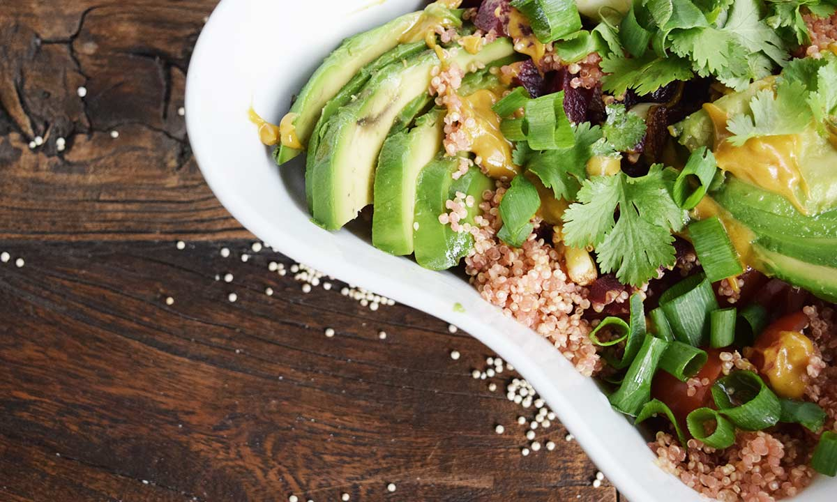 Quinoa Bowl vegan – Food Blog Coco Collmann