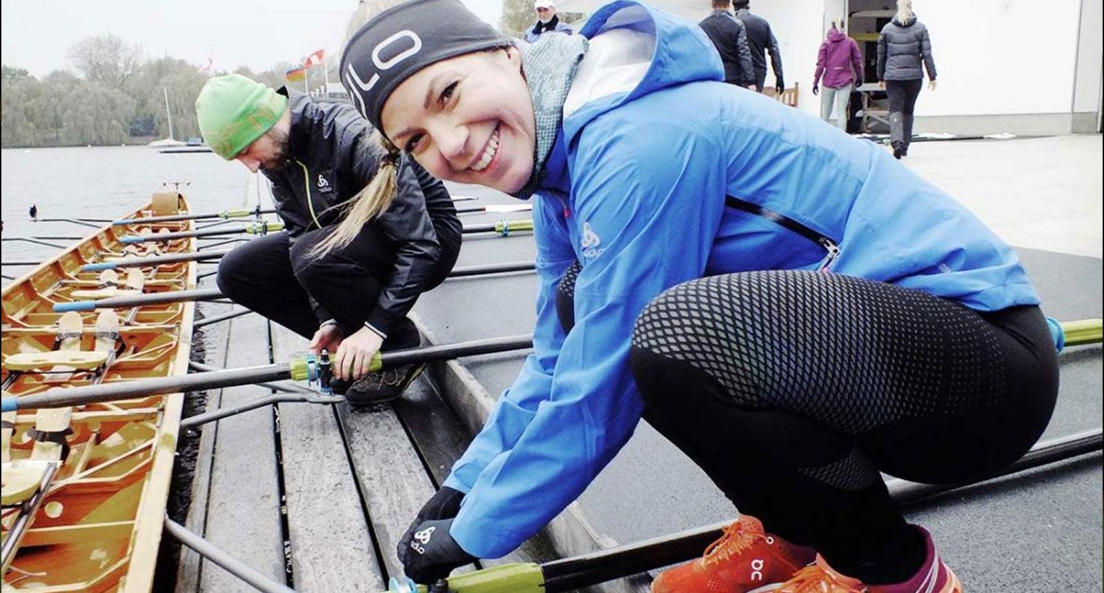 Rudern mit Simon Rolfes und Odlo – Fitnessblog Coco Collmann
